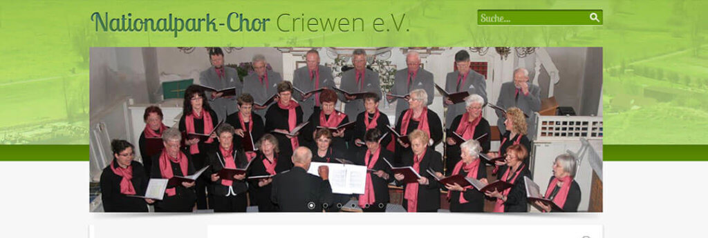 Website des Nationalpark-Chor Criewen e.V.