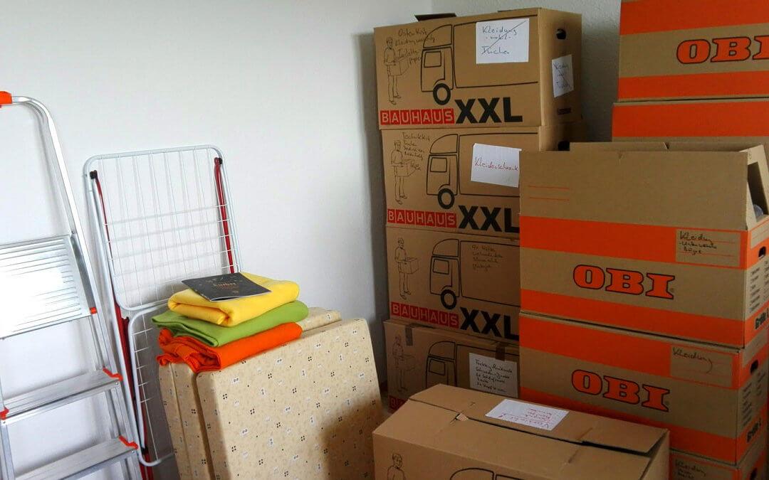 Und wieder Kisten packen